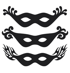 Black carnival masks vector image