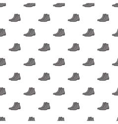 Men winter boot pattern cartoon style vector image vector image