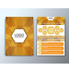 Template flyer with polygonal background vector image vector image