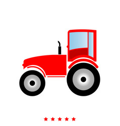 tractor it is icon vector image vector image