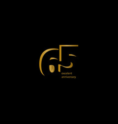 65 years excellent anniversary template design vector