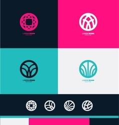 Abstract circle sign logo icon vector image