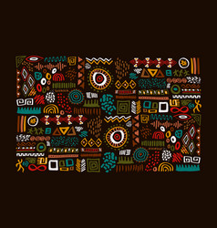 african tribal art traditional symbol set isolated vector image