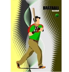 al 1008 baseball 01 vector image