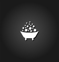 baby bath icon flat vector image