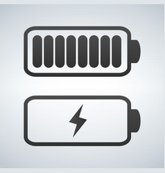 battery icon charge from high to low vector image