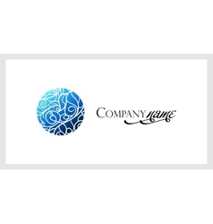 Beautiful mosaic lace logo in stamp style vector