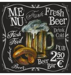 Beer bar logo design template alcoholic vector