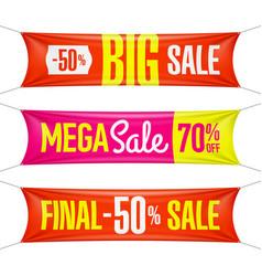 Big super final mega sale vinyl banners vector
