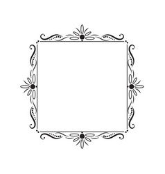 Black vintage square contour frame vector