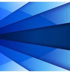 Blue shiny paper layers abstract background vector image