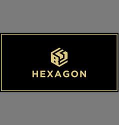 bs hexagon logo vector image