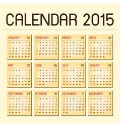 calendar 2015 02 vector image