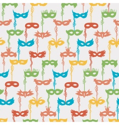 Carnival masks pattern vector