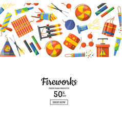 cartoon pyrotechnics background vector image