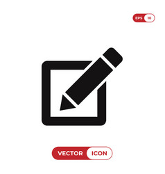 checkbox with pen icon vector image