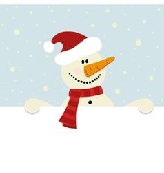 christmas happy snowman vector image