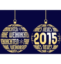 christmas new year german vector image