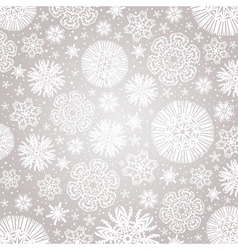 Christmas snowflakes over grey background vector