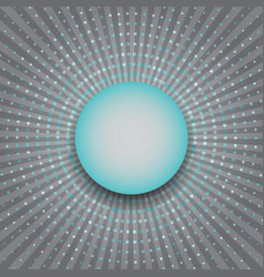 Circles halftone rays abstract background vector