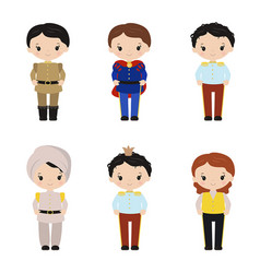 collection of cute princes collection of cute vector image