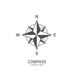 compass icon on a white background symbol vector image