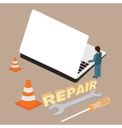 Computer laptop repair service maintenance vector