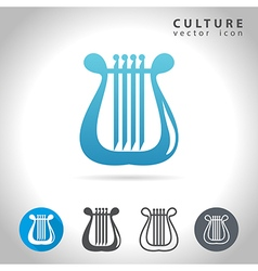 Culture blue icon vector