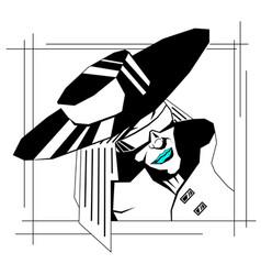 detective portrait noir vector image