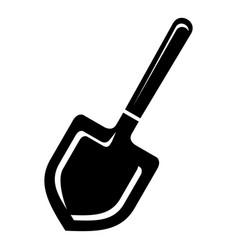 farmer spade icon simple style vector image