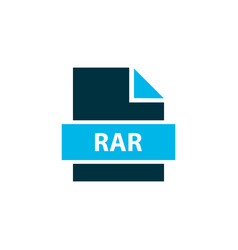 File rar icon colored symbol premium quality vector