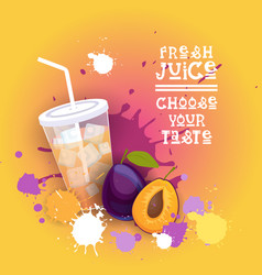 Fresh juice logo healthy vitamin drink bar vector