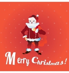 Full length portrait of a Santa Claus posing near vector