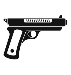 Gangster pistol icon simple style vector