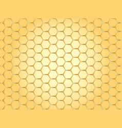 Golden honeycomb cells background vector