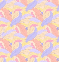 hand drawn boho seamless pattern with colored vector image