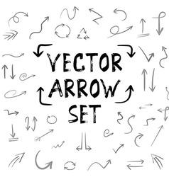 Handdrown Handmade Arrow Huge Isolated Set vector