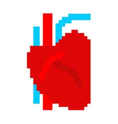 heart human pixel art organ man 8 bit vector image
