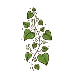 Heart shaped leaves border vector