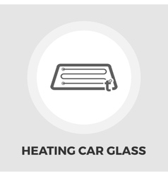 Heating automotive glass flat icon vector image