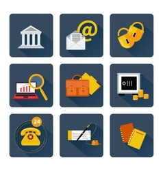 Icon set for finance and banking services vector image