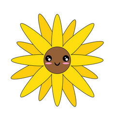 Isolated cute flower vector