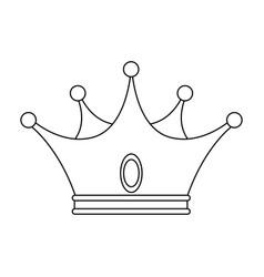 king crown luxury symbol vector image