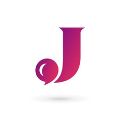 Letter j speech bubble logo icon design template vector