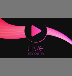 live video streaming baclground template vector image