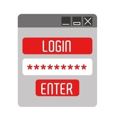 login template isolated icon design vector image