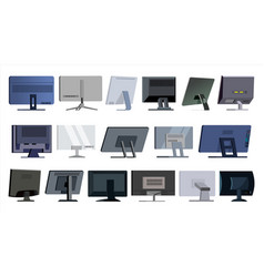monitor set modern monitors laptop vector image