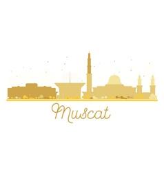 Muscat City skyline golden silhouette vector image