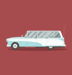 old wagon car vector image