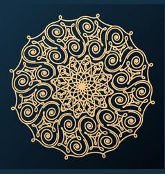 ornamental decorative rosette design element vector image